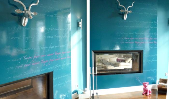 Farbdesign - Esszimmer - Detail - 4 - Gestaltung Wand Schrift