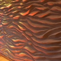 Wandgestaltung – 3D Wellenwand –Wandornament