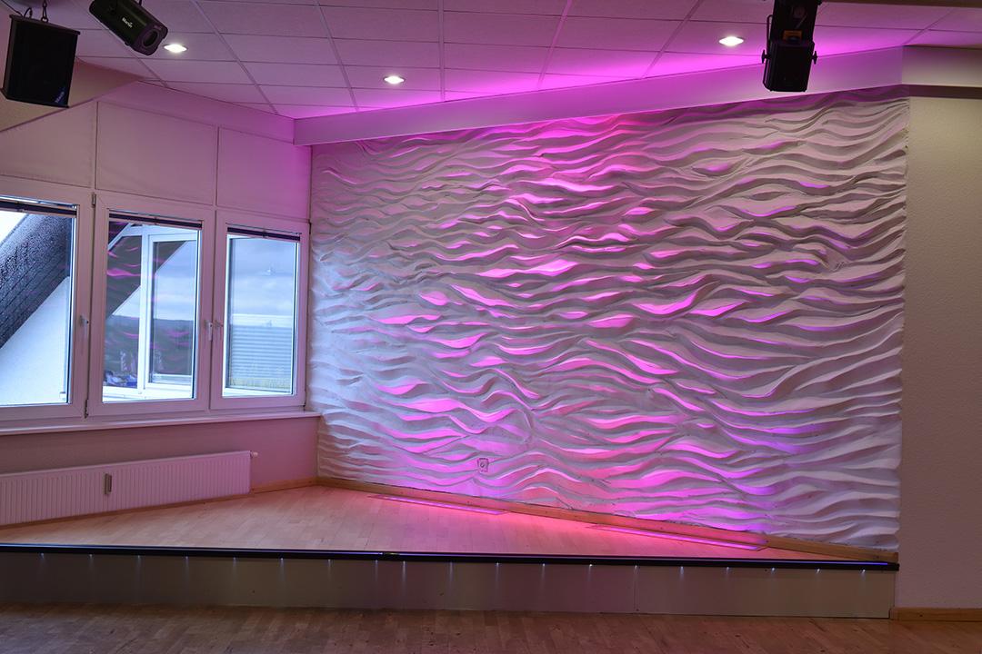 Wandgestaltung - 3D Wellenwand - 4