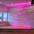 Oberflächengestaltung – Wandgestaltung mit Wellen aus Gips – Farbkonzept –Wandornament