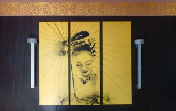 Farbdesign - Wandbild auf Goldgrund
