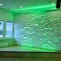 Wandgestaltung – 3D Wellenwand –3