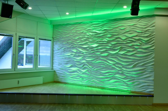 Wandgestaltung - 3D Wellenwand - 3