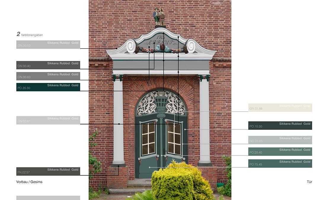 Eingangsportal - Farbdesign - Entwurf 1