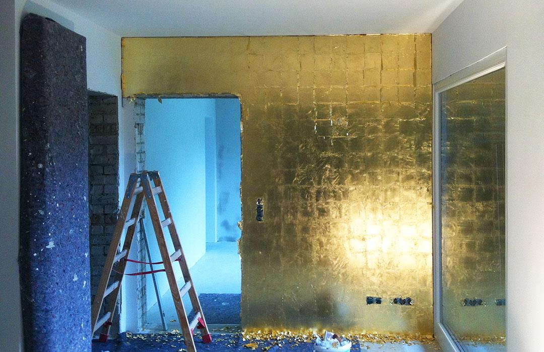 Dokumentation - vergoldete Wand 2
