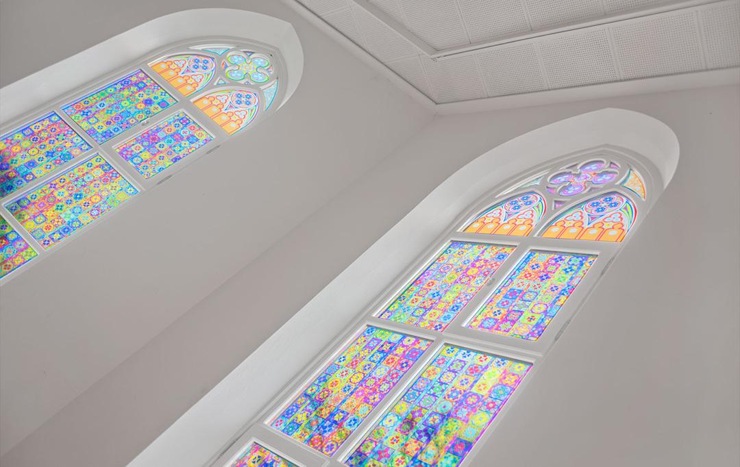 Kirchenfenster - Farbdesign