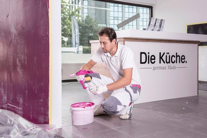 Maler- Farbgestalter - Farbdesigner Hannover - Sichtbetonoptik Küche Hannover