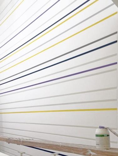 Wandgestaltung mit Reliefstreifen - Wandstreifen - Streifen - Wandgestaltung