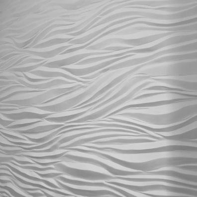 Wandgestaltung - Welle - Wellenwand - Wandrelief in einem Badezimmer - Badezimmergestaltung - Badgestaltung - Wandgestaltung 3D